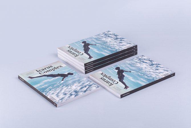 "Impressão offset premium da revista ""Icarus Complex"""