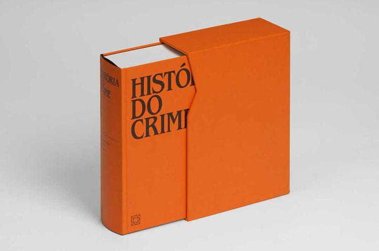 """Impressão offset premium do livro """"História do crime"""" 01"""
