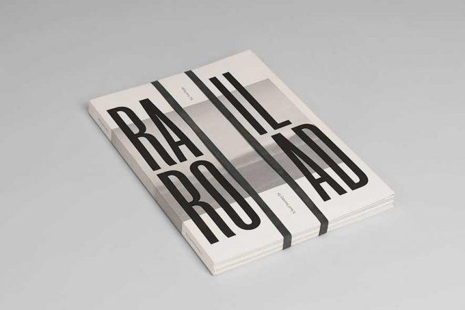 """Impressão offset premium do livro """"Rail Road"""". Acabamento especial: Baixo relevo 03"""