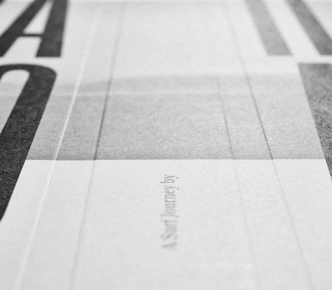 """Impressão offset premium do livro """"Rail Road"""". Acabamento especial: Baixo relevo 01"""