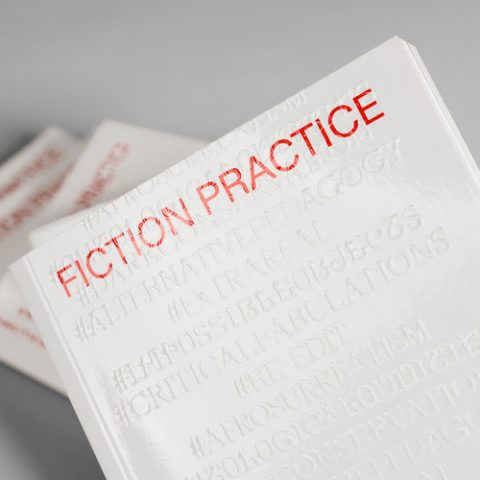 """Impressão offset premium do livro """"Fiction Practice"""". Acabamento especial: alto-relevo 01"""