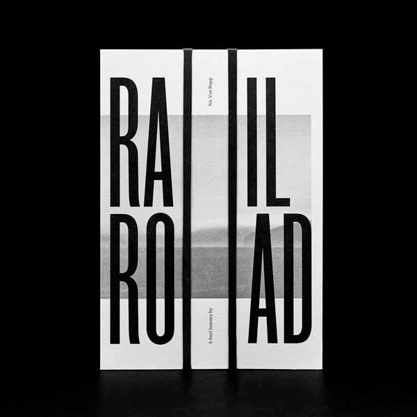 """Impressão offset premium do livro """"Rail Road"""". Acabamento especial: Baixo relevo 02"""