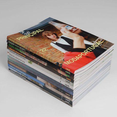 """Impressão offset premium das revistas """"Prinçipal - Moda em Portugal"""""""