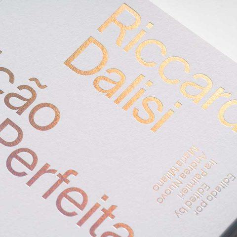 """Impressão offset premium do livro """"Imperfeição perfeita"""" de Riccardo Dalisi 02"""