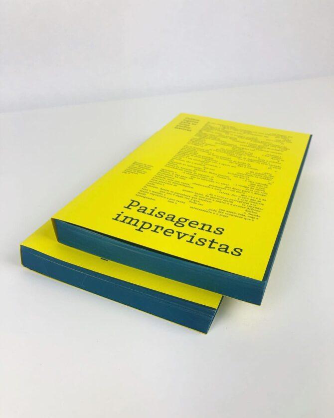 """Impressão offset premium do livro """"Paisagens imprevistas"""". Acabamento gráfico: Topos pintados 05"""