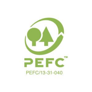 Somos sustentavelmente certificados: PEFC