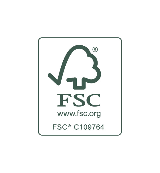 Somos sustentavelmente certificados: FSC