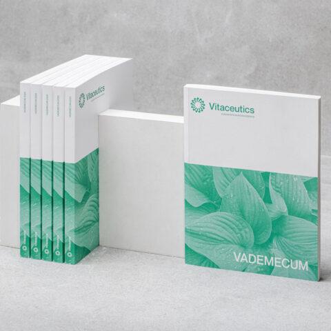 Impressão offset premium livro vitaceutics 1