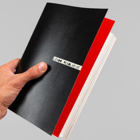 Impressão offset premium livro Lendo resolve-se portfolio
